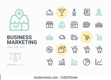 Business Marketing Vector Icon Set 2