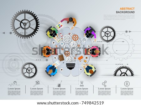 business meeting brainstorming idea business concept stock vector