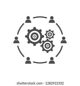Business meeting interaction communication development icon