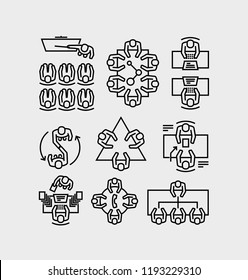 Business Meeting Line Icons