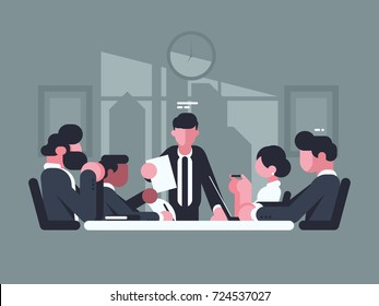 Office meeting pictures Stock Business Meeting In Office Meeting Of Shareholders Of Company Vector Illustration Shutterstock 500 Meeting Cartoons Pictures Royalty Free Images Stock Photos