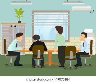 Business meeting in an office. vector