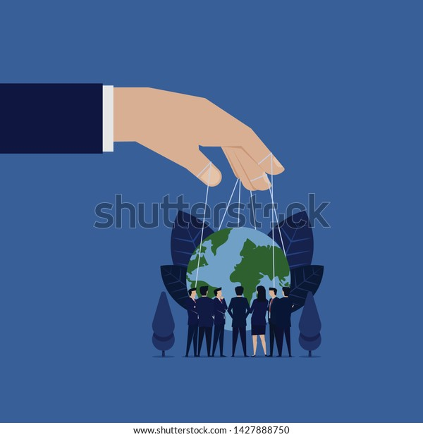 Business Meeting Rule World Hand Hold Royalty Free Stock Image