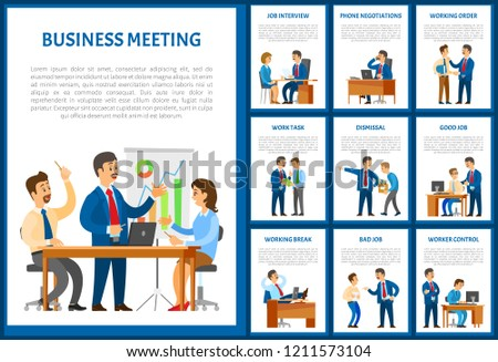 business meeting team negotiation on phone stock vector royalty