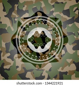 business meeting teamwork icon on camouflage pattern
