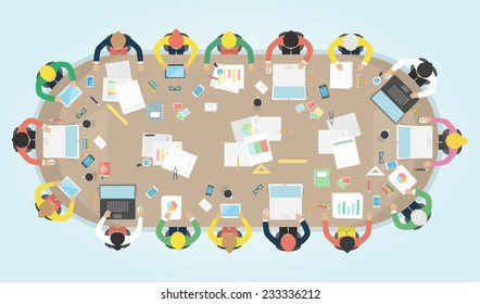 meeting cartoons images stock photos vectors shutterstock