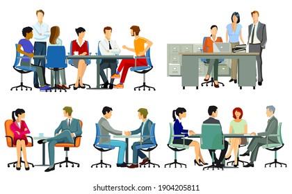 Business meetings and advice, team meetings