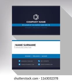 business model name card luxury Modern blue white black