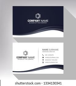 business model name card luxury Modern black white