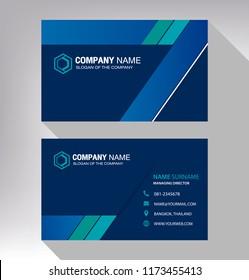 business model name card modern blue green white - Business Card Model