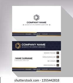 business model name card Modern black white gold
