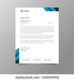 Business modern letterhead design template