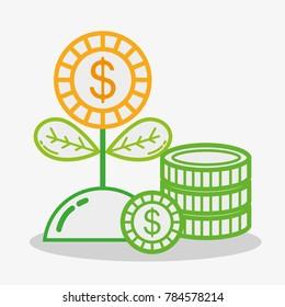 business money economy flat icons