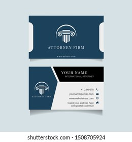 Business name card for Attorney and Lawyer who need branding. This business card template build in vector with lawyer and attorney symbols and illustration.