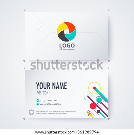 Business name card template commercial design stock vector royalty business name card template commercial design vector illustration accmission