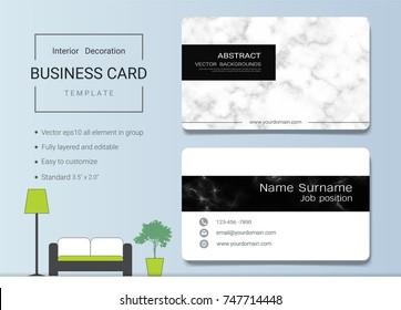 Interior Designer Business Card Templates Images Stock Photos Vectors Shutterstock