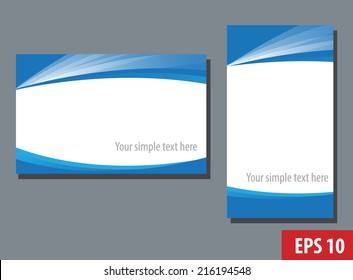 Business name card templates,blue and white design