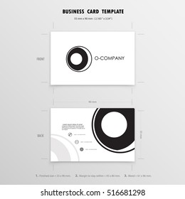 Business name card template.Vector illustration