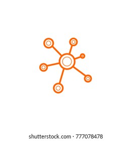Business Network vector icon. vector icon 10 eps