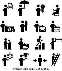 Business occupation icons