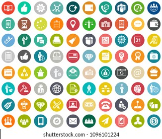 business, office and computer icons, presentation sign symbols