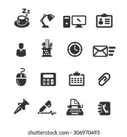 Business Office Icon Set , Vector Graphic