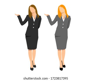 business office people working vector illustration