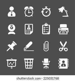 business and office work icon set, vector eps10.