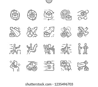 Business on the Go Well-crafted Pixel Perfect Vector Thin Line Icons 30 2x Grid for Web Graphics and Apps. Simple Minimal Pictogram