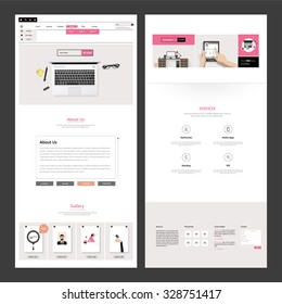 Business One page website design