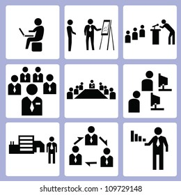 business and organization icon set, vector