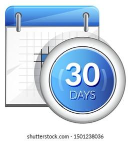 Business Organizer 30 Days Deadline - Icon as EPS 10 File