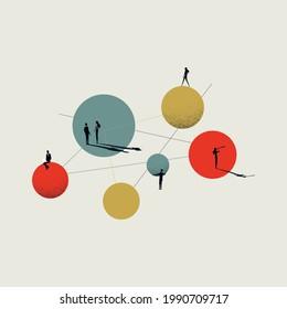 Business our team presentation vector website banner. Symbol of teamwork, diversity and company. Minimal eps10 illustration.