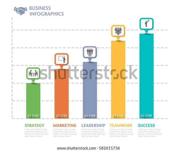 Business overview visualization. Graph Infographic data. Business template for presentation. Vector infographics.