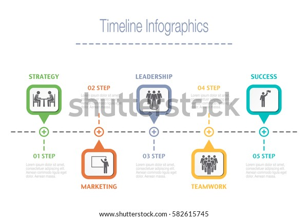 Business overview visualization. Timeline Infographic data. Business template for presentation. Vector infographics.