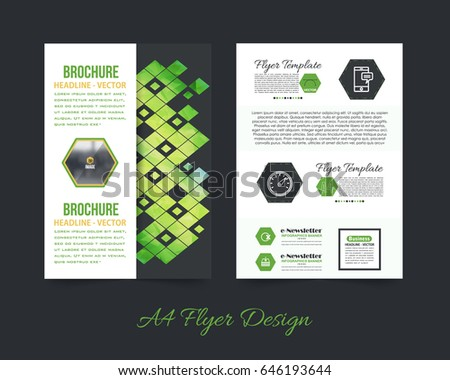 Business pamphlet low poly booklet template stock vector royalty business pamphlet or low poly booklet template a4 document and vector background flyer polygonal accmission Images