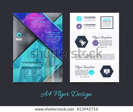 Business pamphlet polygonal booklet template a 4 stock vector business pamphlet or polygonal booklet template a4 document and vector background flyer geometric low wajeb Gallery