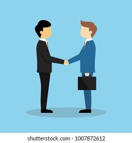 Business partnership illustration vector