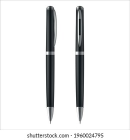 Business pen set vector gratuito 2