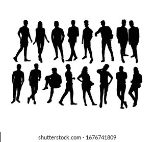 Business People Activity Silhouettes, art vector design