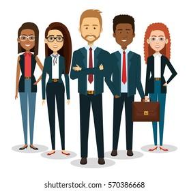 business people avatars icon