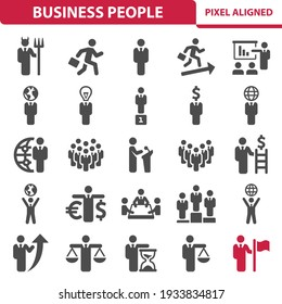 Business People, Businessman Icons. Professional, pixel perfect icons, EPS 10 format.