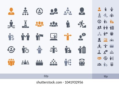 Business People - Carbon Icons. A set of professional, pixel-aligned icons.