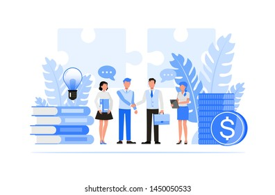 Business people character vector design. Business Relationships concept.