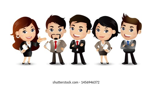 business people group avatars characters - Vector