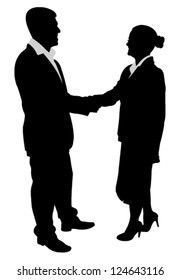 business people handshake illustration