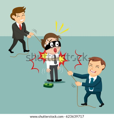 df1b45ec153 Business People Help Catch Robber Vector Stock Vector (Royalty Free ...
