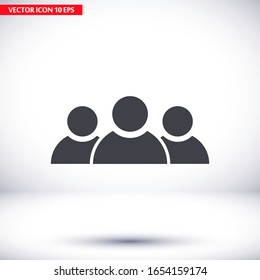 Business people icon. group of persons. people. Vector graphics. human icon work done for your use. 10 eps