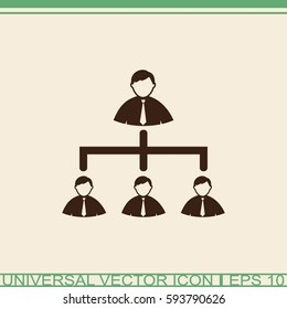 Business people icon - teamwork, connection & relationship concept sign.
