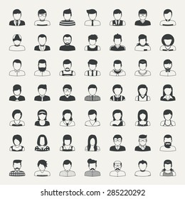 Business and people icons  , eps10 vector format